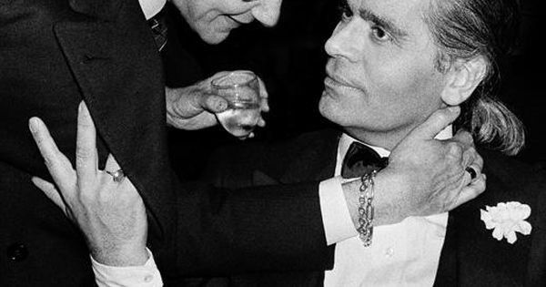 Fashion Icons. Yves Saint Laurent and Karl Lagerfeld