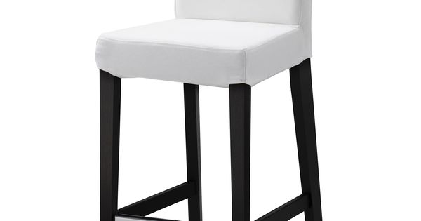 Henriksdal bar stool with backrest gobo white 26x19 for Plain white plates ikea