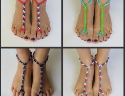 Rainbow Loom for your Feet. I have only made these for ...