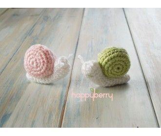 Crochet snail ribbon Fabienne for small hands