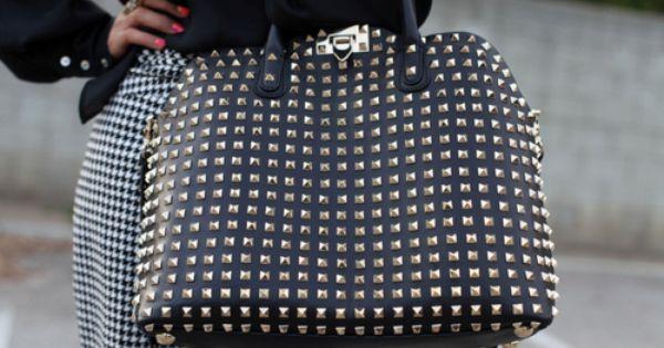 black studded valentino rockstud handbag of my dreams.