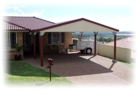 Attached carport hunter sheds your local accredited for Shed with carport attached