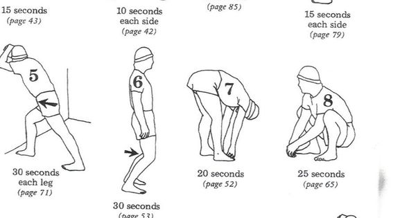 warm up exercises before stretching