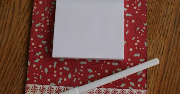Echoes of Laughter: Organizing for Christmas~Project 1: Make A Fun Clipboard for