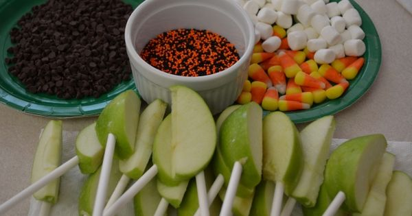Caramel apple bar. Great fall party idea.