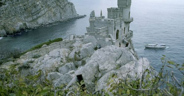 Black Sea Castle, Yalta, Russia/Ukraine, 1987 The neo-Gothic Swallow's Nest castle perches