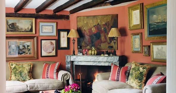 This West Sussex farmhouse belongs to designers Paolo Moschino and Philip Vergeylen ...