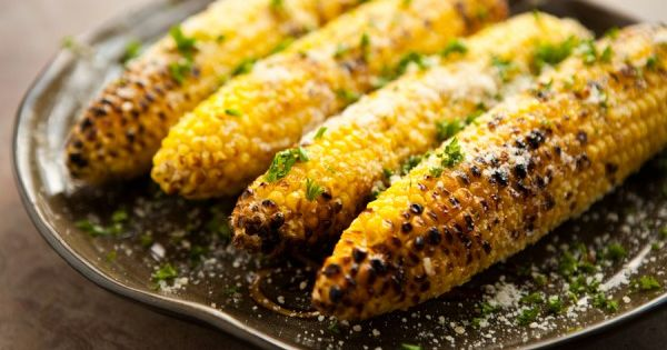 Parmesan Garlic Grilled Corn. #recipe | The Savory & The Sweet ...