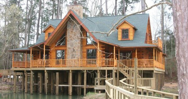 Over A Lake Sweet Log Cabins My Future Home