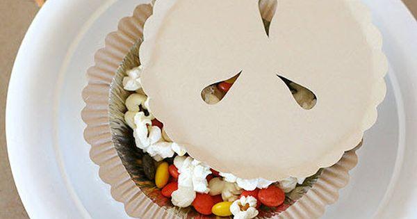 Kids snacks -- hidden in a Thanksgiving pie at www.fiskars.com