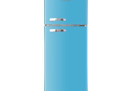 Rca 10 Cu Ft Top Freezer Apartment Size Retro Refrigerator Blue Rfr1055 Walmart Com In 2020 Retro Refrigerator Refrigerator Bottle Store