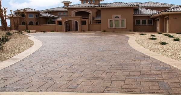 Stamped Concrete Driveway For Our New Home Pinterest