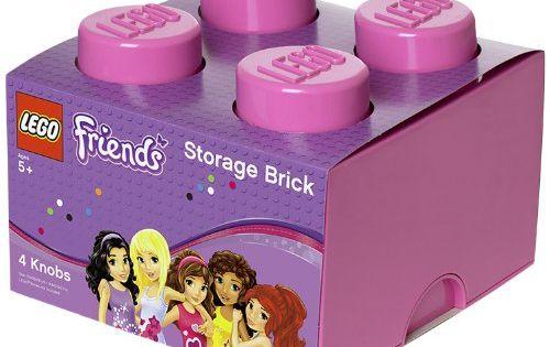 lego friends storage brick 4 bright purple lego http. Black Bedroom Furniture Sets. Home Design Ideas