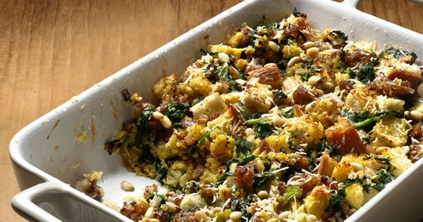 Spinach Sausage Stuffing From T Giving