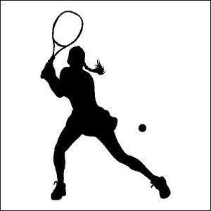 Tennis Female Outline Google Search Tennis Drawing Tennis Art Tennis Players Female