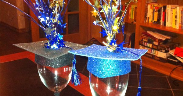 Teran 39 s graduation centerpiece place a battery powered for Battery operated lights for craft booth