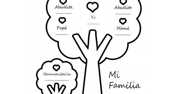 Dibujos Infantiles Árbol En Otoño Para Colorear: Plantilla Arbol Genealogico Infantil Para Colorear