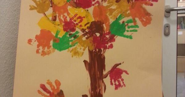 Herbst basteln mit kindern ihr braucht daf r nur - Fensterdeko herbst kindergarten ...