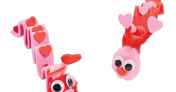 $6.25 for 24 Inchworm Valentine Craft Kit - Oriental Trading