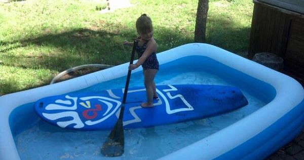 Sup instruction for all levels start your kids young in for Stand up pool