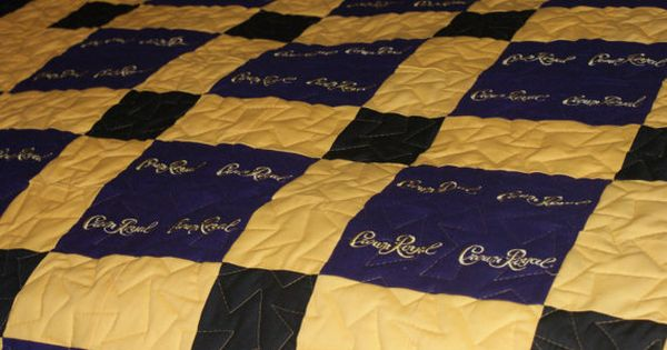 Man Cave Quilt Pattern : Custom made to order crown royal quilt couch throw man