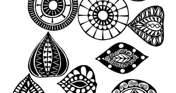Presenting these separate zentangles offers a great method to isolate and replicate