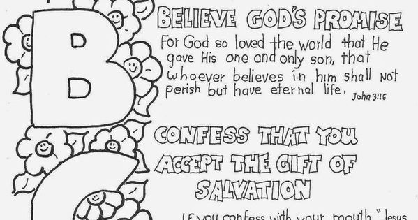 The ABC Of The Gospel Coloring Page See More At My