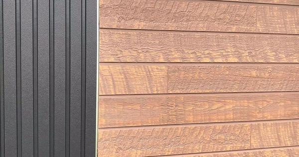 Y Home Account Instagram 外壁 我が家の外壁は リブ9 のブラックと キャスティングウッド のミディアムブラウンです とうとう 外壁を貼り終えそろそろ