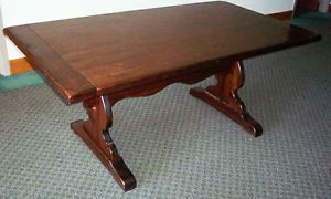 Ethan Allen Antique Pine Trestle Table Ethan Allen Furniture