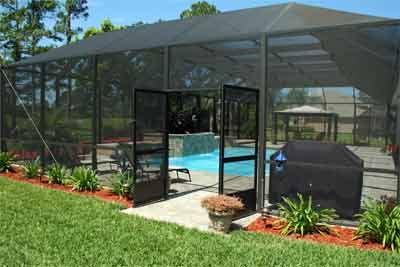Screened Pool Enclosures Jacksonville Florida Backyard Pool Landscaping Screened Pool Backyard Pool Designs