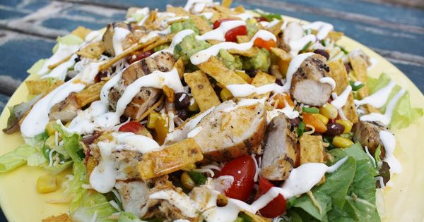 Mexican chicken salads, Lime dressing and Mexican chicken on Pinterest