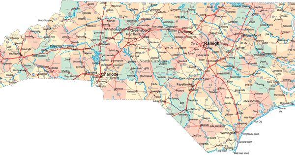 Map Of North Carolina And South Carolina