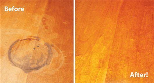 Repair A Water Damaged Finish Popular Woodworking Magazine Water Stain On Wood Wood Floor Repair Diy Furniture Repair
