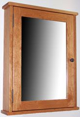 Surface Mounted Shaker Style Medicine Cabinet With A Mirrored Door