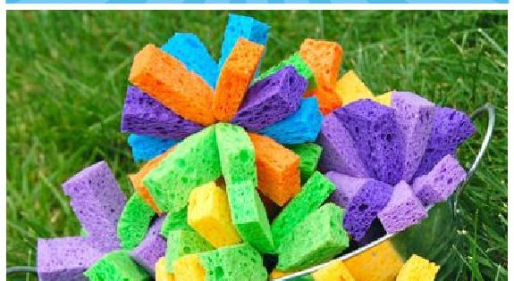 How to Make Sponge Bombs - for a fun time, cut up
