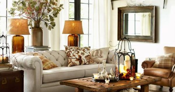 Hastings Reclaimed Wood Coffee Table Pottery Barn Love The Table And The Lamps Container
