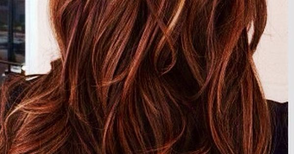 Red Auburn Hair With Caramel Highlights We Know How To