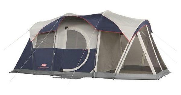 Coleman Elite Weathermaster 6 Screened Tent Blue Grey