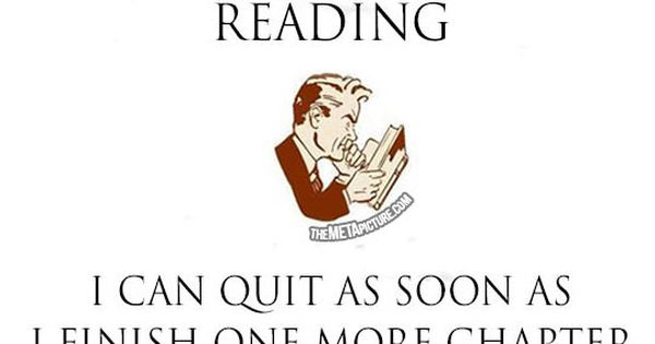 Reading addiction. Yep.