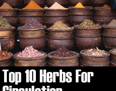 ❤ Top 10 Herbs For Circulation ❤