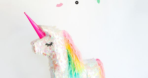unicorn pinata makeover oh happy day kindergeburtstag. Black Bedroom Furniture Sets. Home Design Ideas