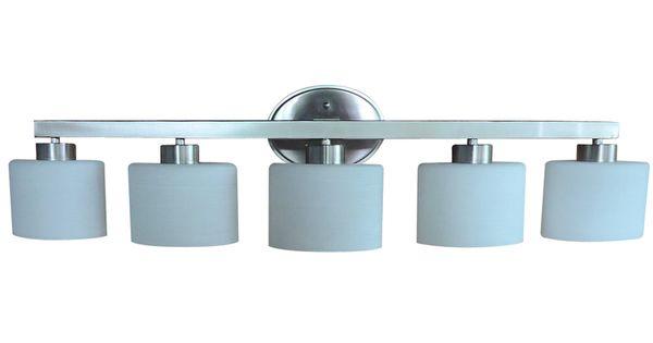 Allen Roth 3 Light Vallymede Brushed Nickel Bathroom: Allen + Roth Merington 5-Light Brushed Nickel Vanity Light