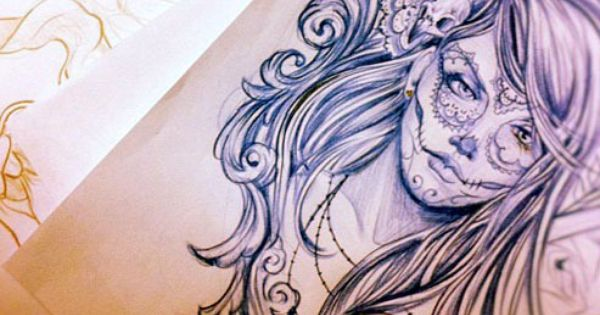 sugar skull. tattoo idea