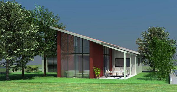 Maison Contemporaine A Toit Monopente En Tuiles Atelier Scenario Architecture Contemporaine Plan Maison Architecte Maison Traditionnelle