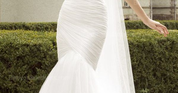 Elegant Mermaid Organza Bridal Gowns 2015 Sweetheart Ruffles Wedding Dresses Mermaid.Wedding Dress