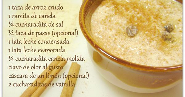 Arroz con leche, Hay and Sons on Pinterest