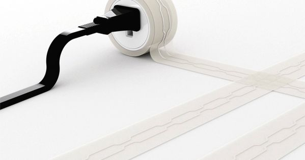 Flat Extension Cord, great idea!