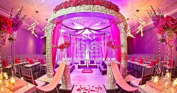 decorations for wedding ceremony w hotel miami fusion mandap shades of pink suhaag 3434
