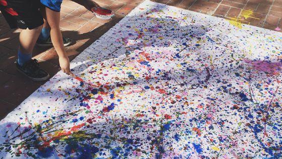 Jackson Pollock Art Lesson For Kids Lopers Kunstwerken