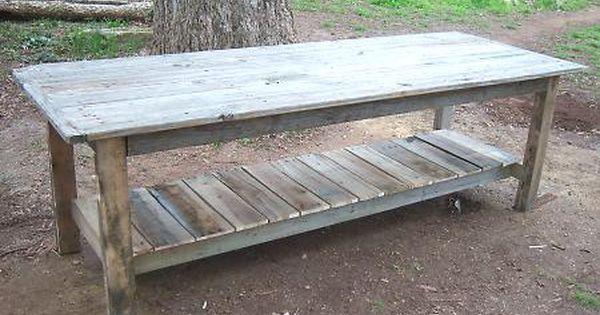 $2 Farmhouse Table diy pallet table